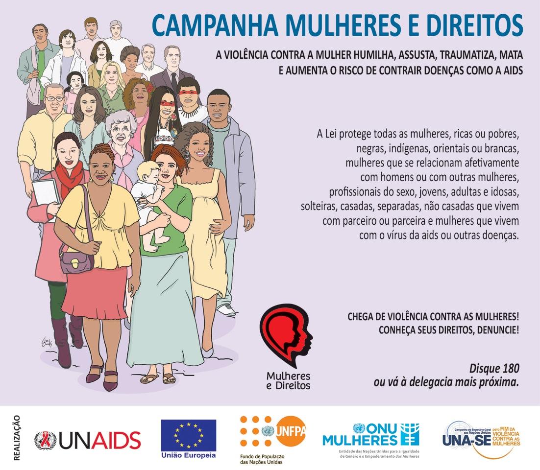 Campanha quer conscientizar a população para a violência contra a mulher, além de promover a igualdade de gêneros e a saúde feminina